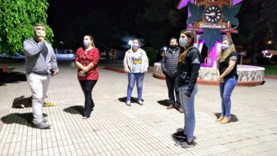 Photo of Prueba de iluminación led en la plaza San Martín